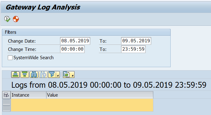 SAP Gateway Log Analysis